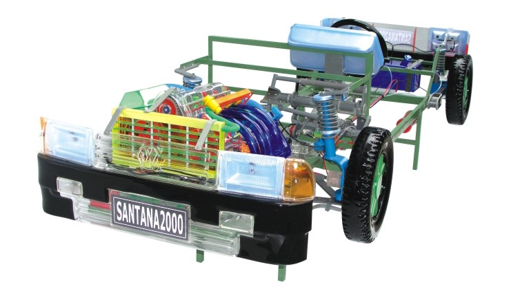 桑塔纳2000GSI型电器电路实习台,桑塔纳2000AJR发动机实验台 上海图片